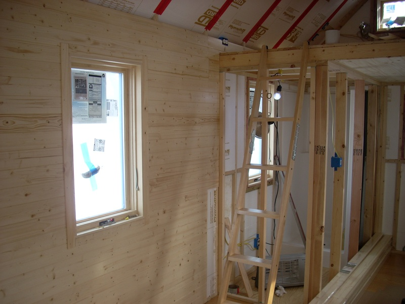 installing knotty pine interior walls my tiny house on wheels