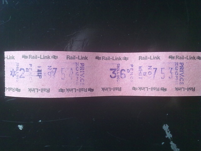 Sample ticket from HCG36