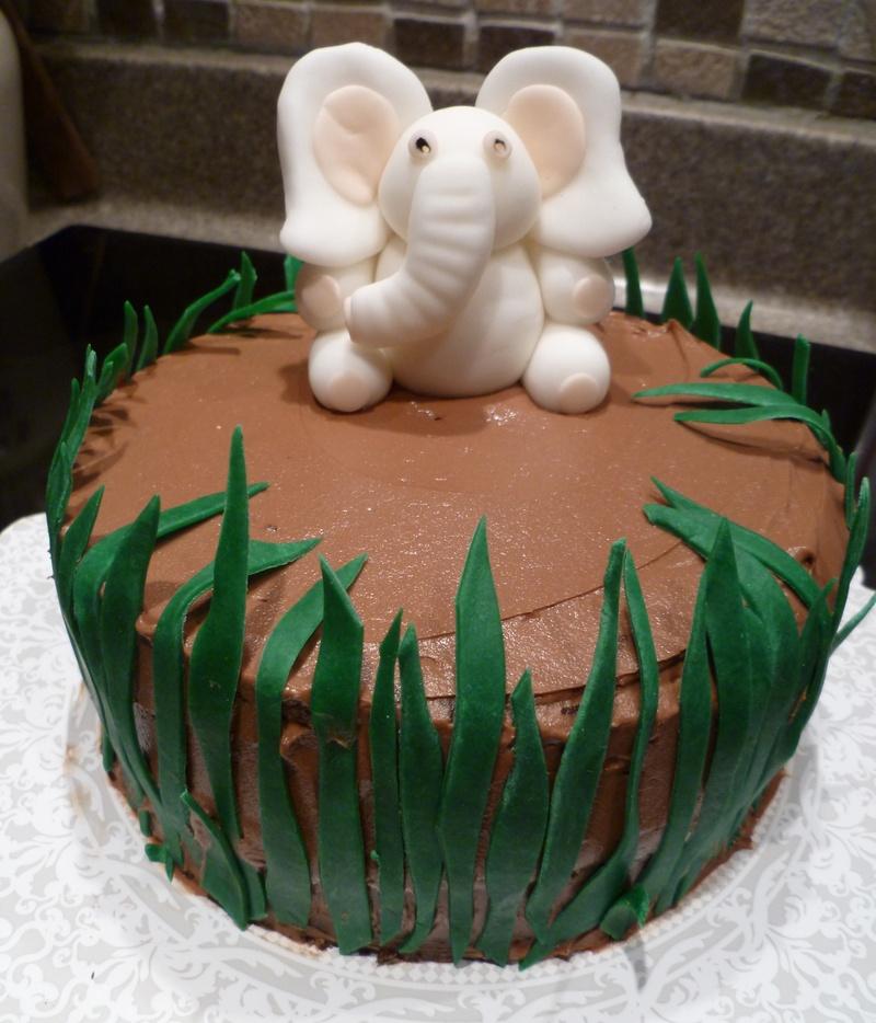 White Elephant Cake