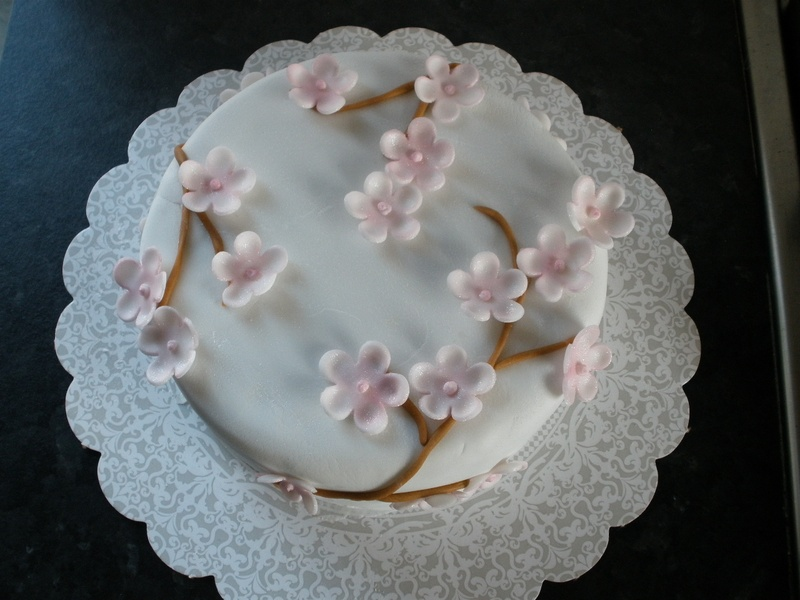 Cherry Blossom Birthday Cake
