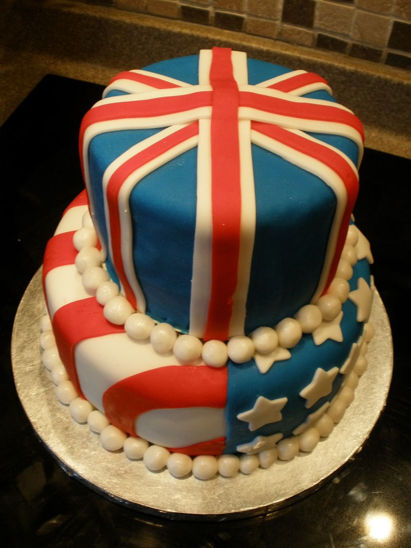 USA/UK theme Cake