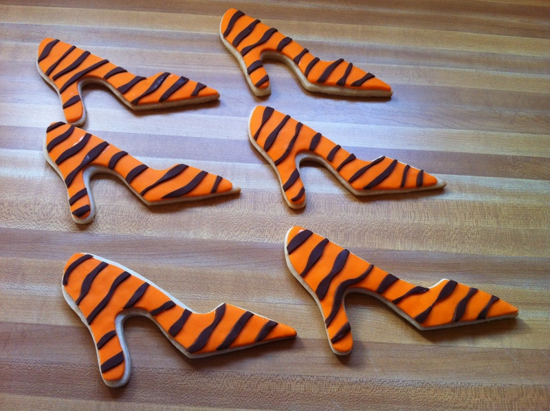 Tiger Stripes Shoe cookies