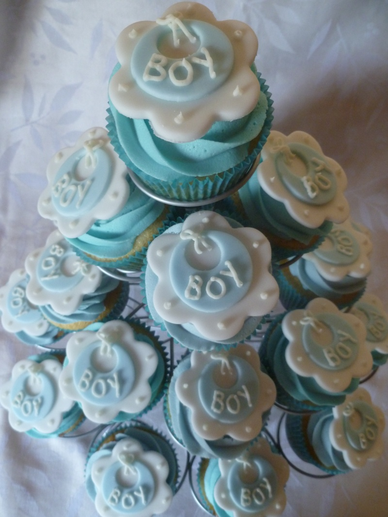 baby boy baby shower cup cakes another slice of cake