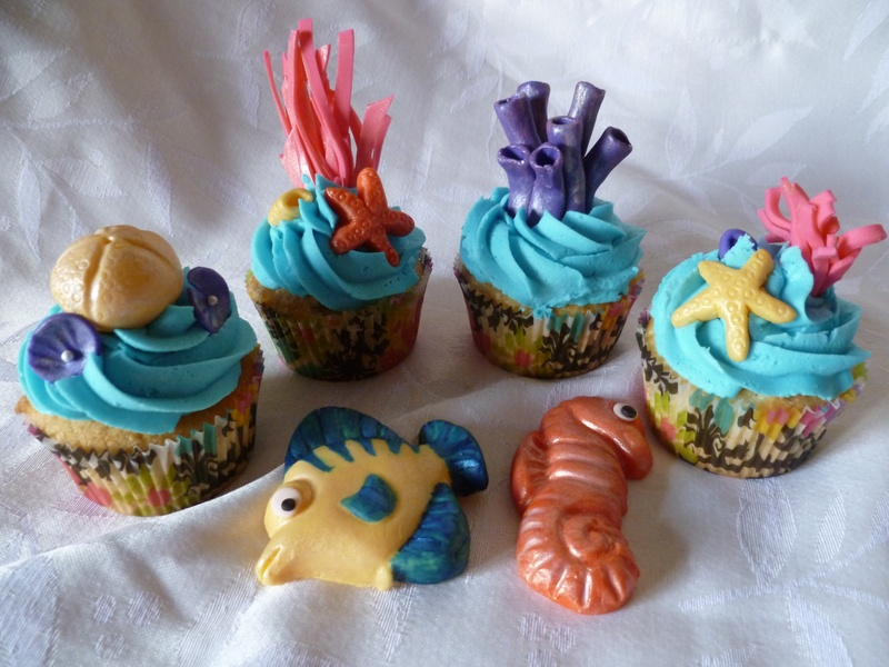 Under the Sea Cup Cakes