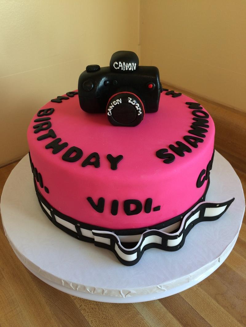 Camera Birthday Cake - Another Slice of Cake