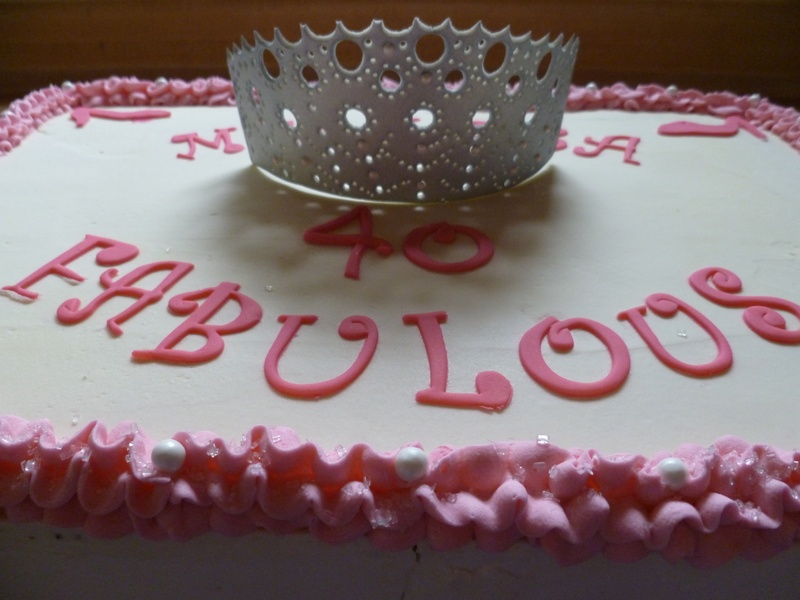 40 & Fabulous Cake