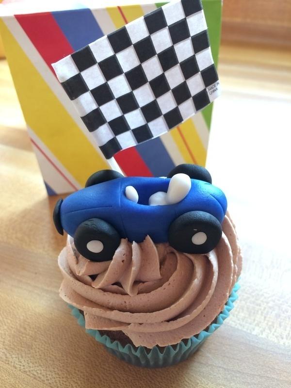 Race car cupcake!