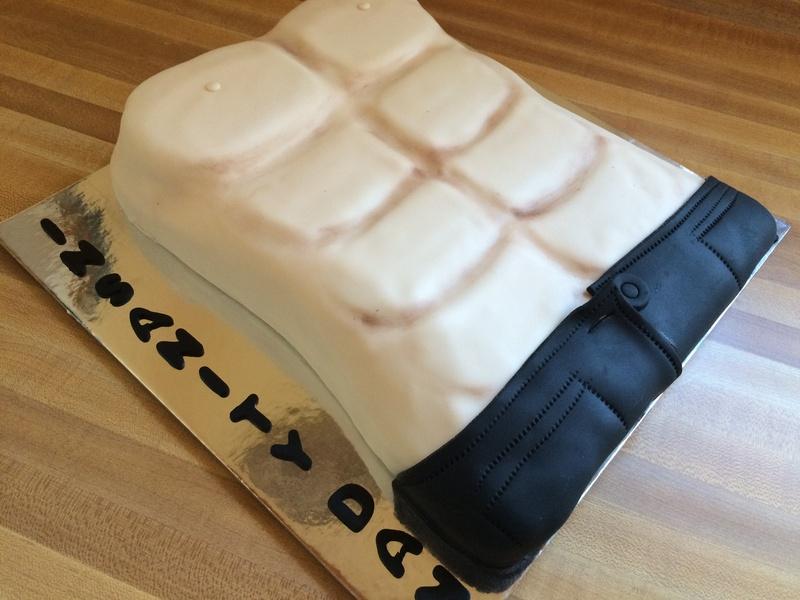 Mr Muscles birthday Cake