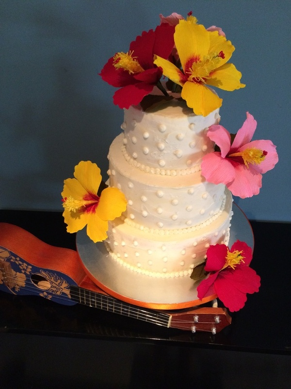 Luau Wedding Cake