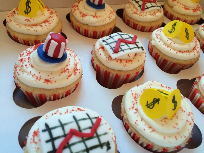 Government economics theme cupcakes!