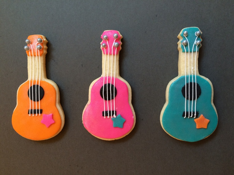 Rock Star Guitar Cookies