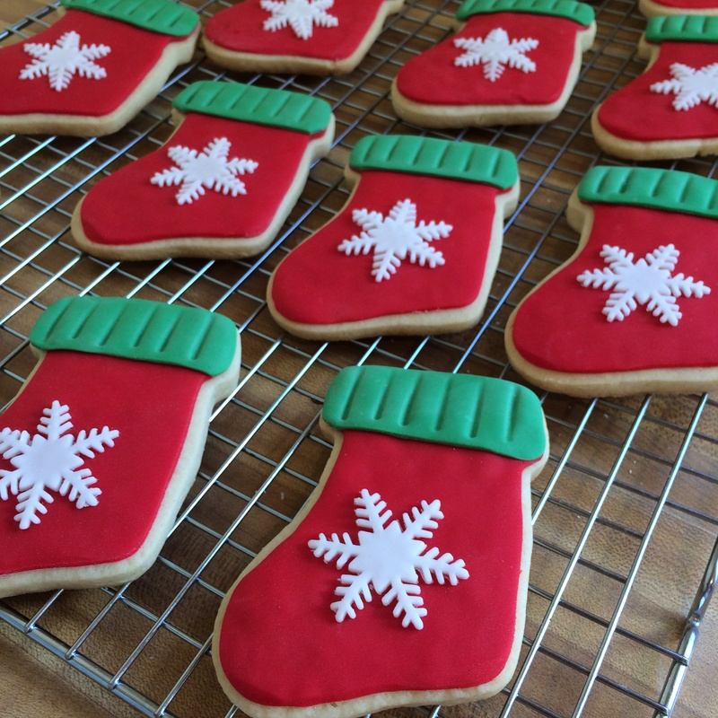 Christmas Stockings sugar cookies