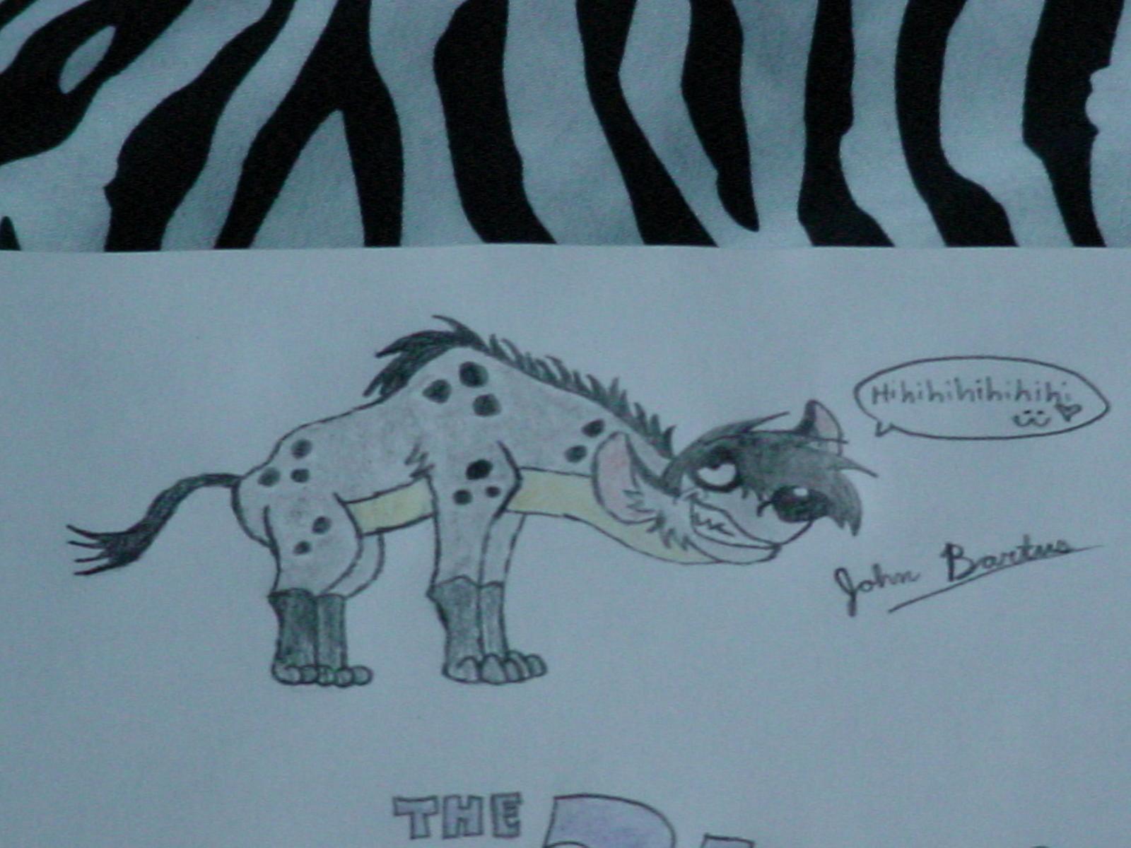 John the Hyena going: Hihihihihihihi :3