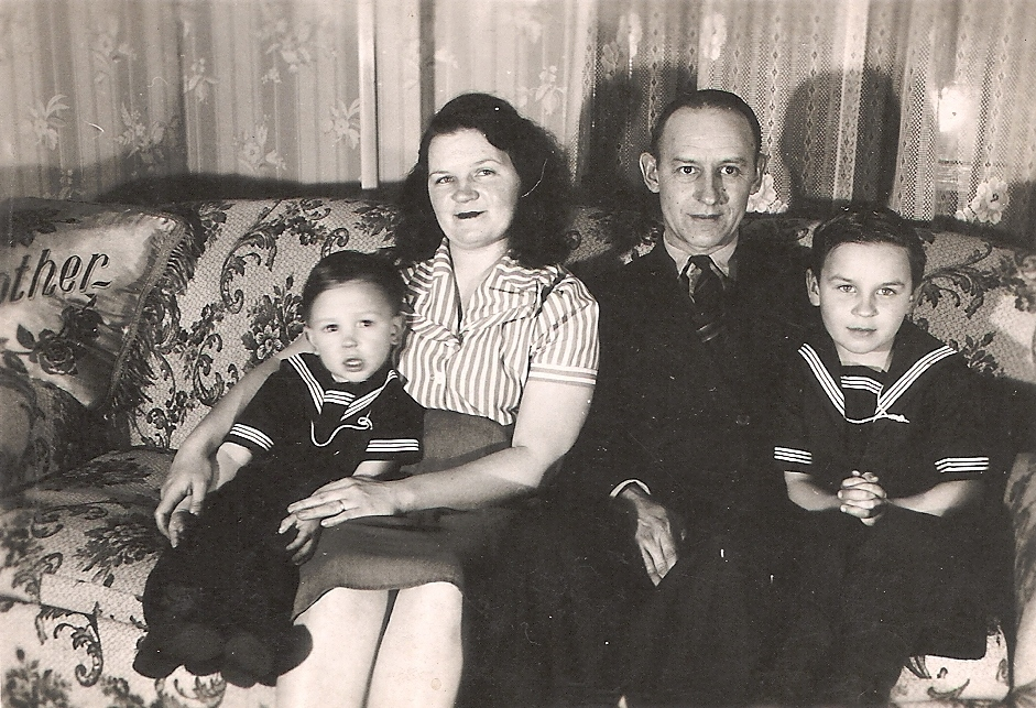 Photo of James P. Strong Family (Me on Right)