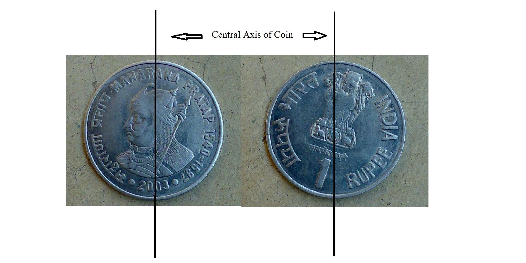 Maharana Pratap Die Rotation Error Coin