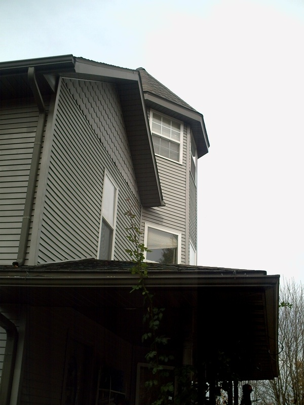 Back view of the side and porch