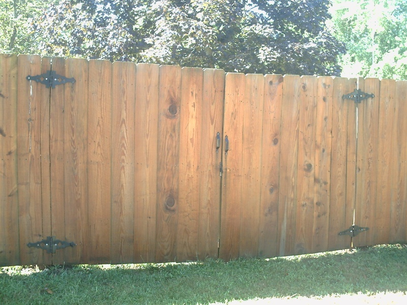 Gate after being cleaned