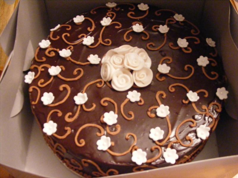 Chocolate Ganache Anniversary Cake