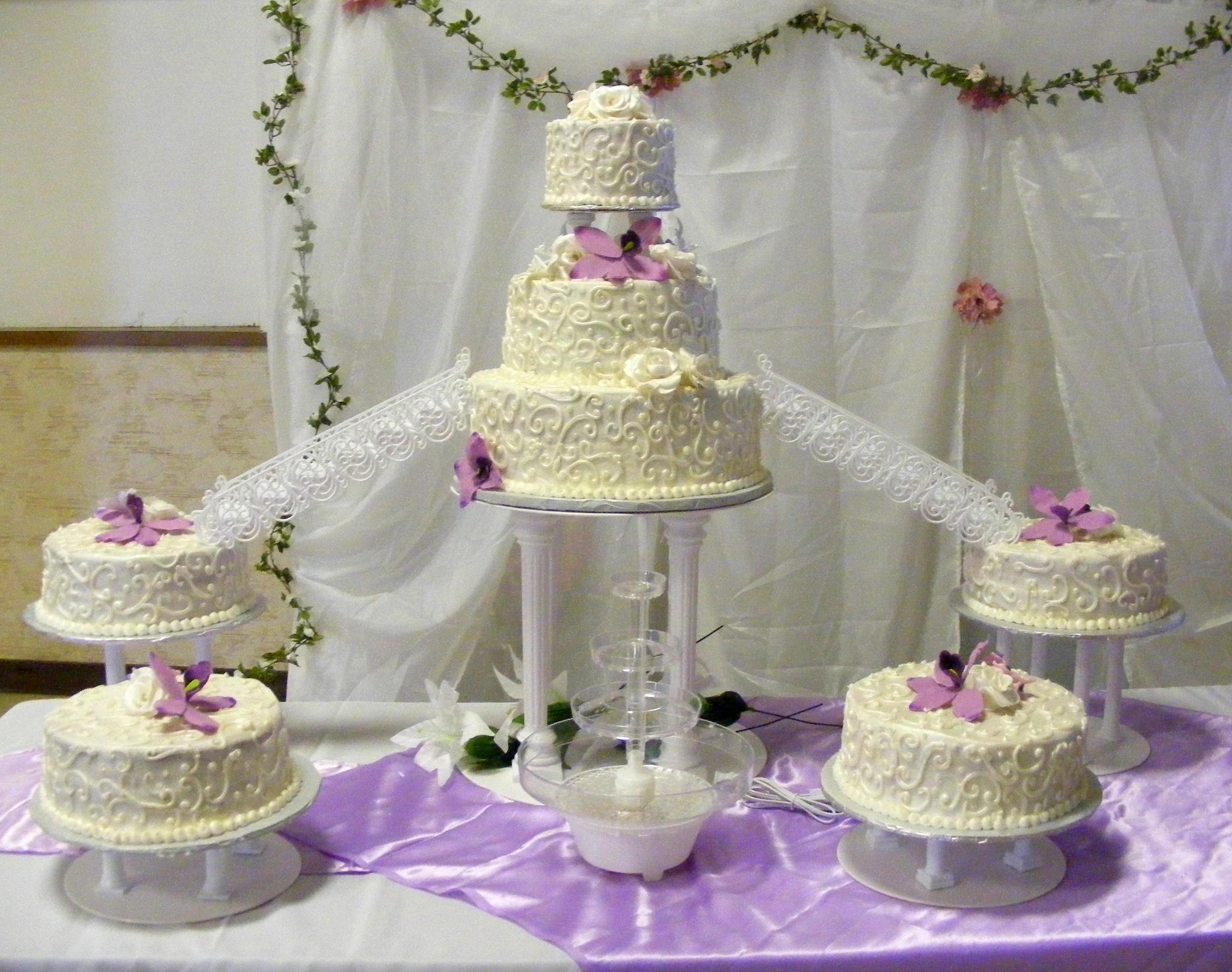 fancy scroll wedding cake Angel Pies