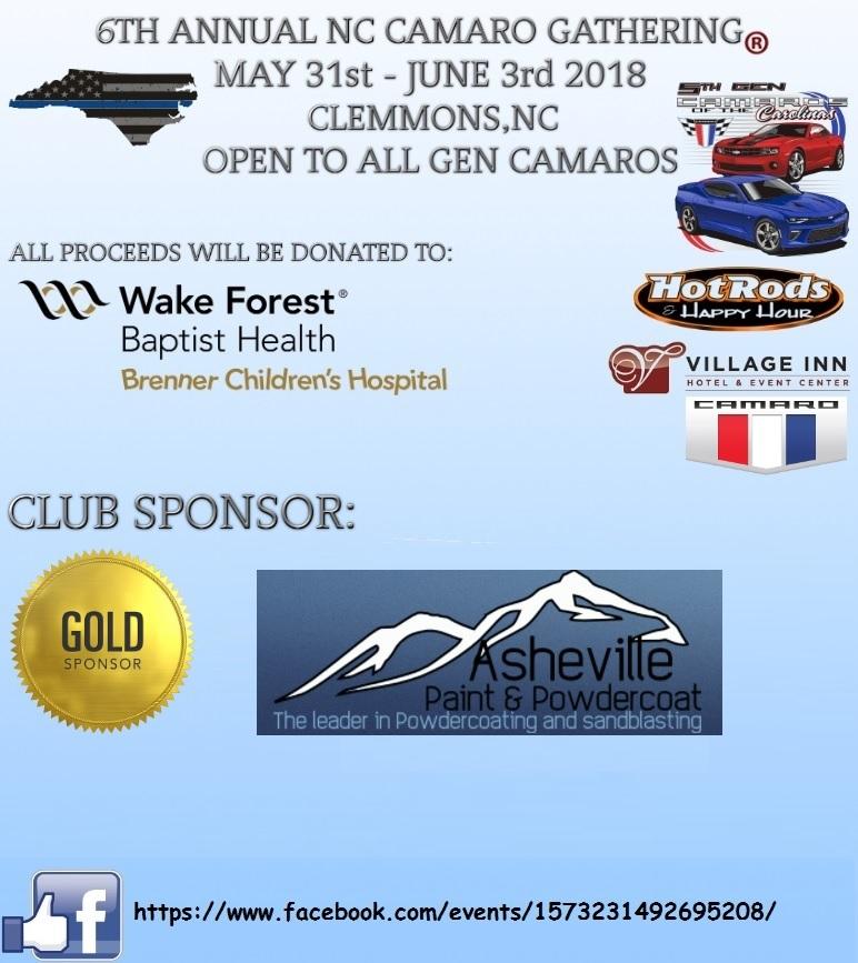 6th Annual NC Camaro Gathering®