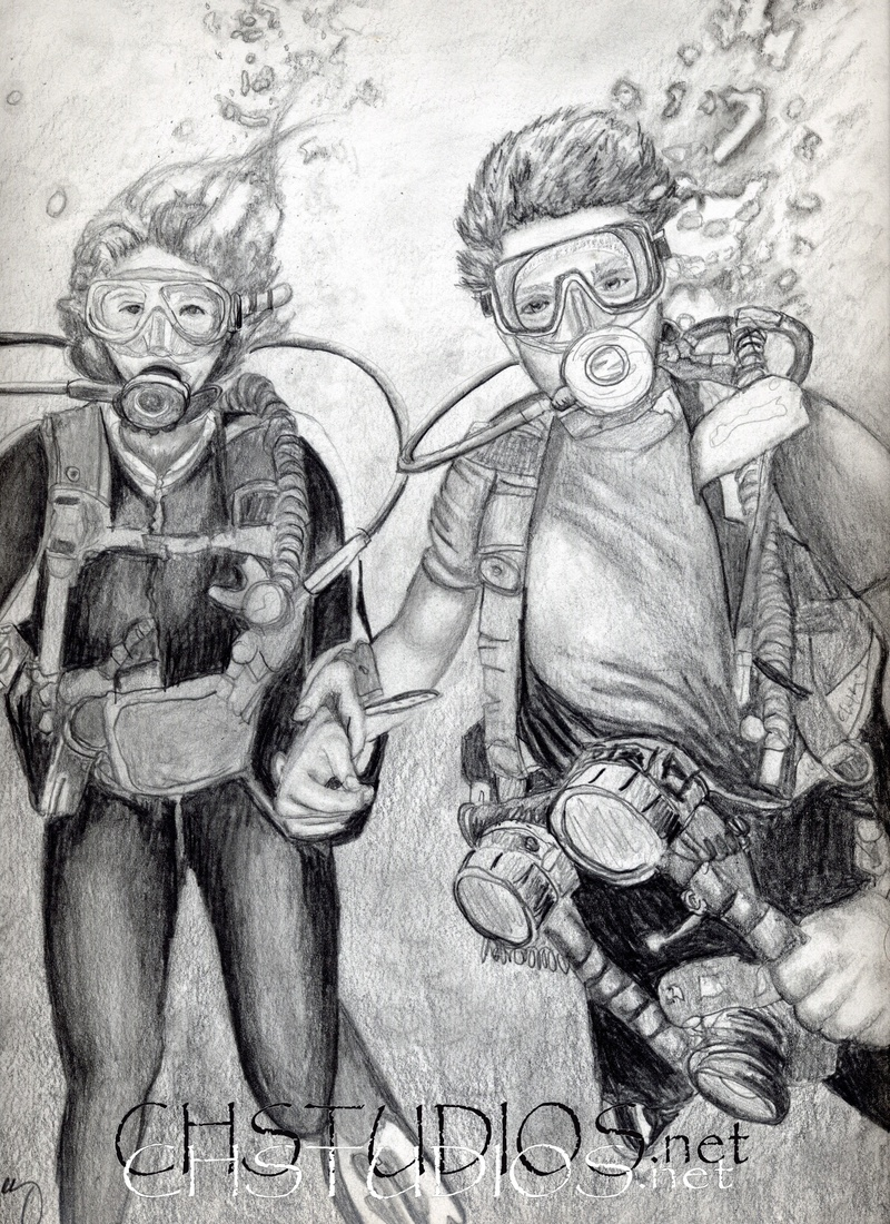 Scuba Divers Portrait