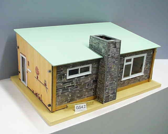 Bungalow A 1962-65. Dimensions: 24 inches [61 cm] wide, 16 inches [40.5 cm] deep and 12.5 inches [31.5 cm] high