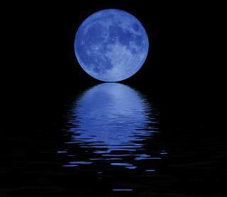 Super Moon over the lake