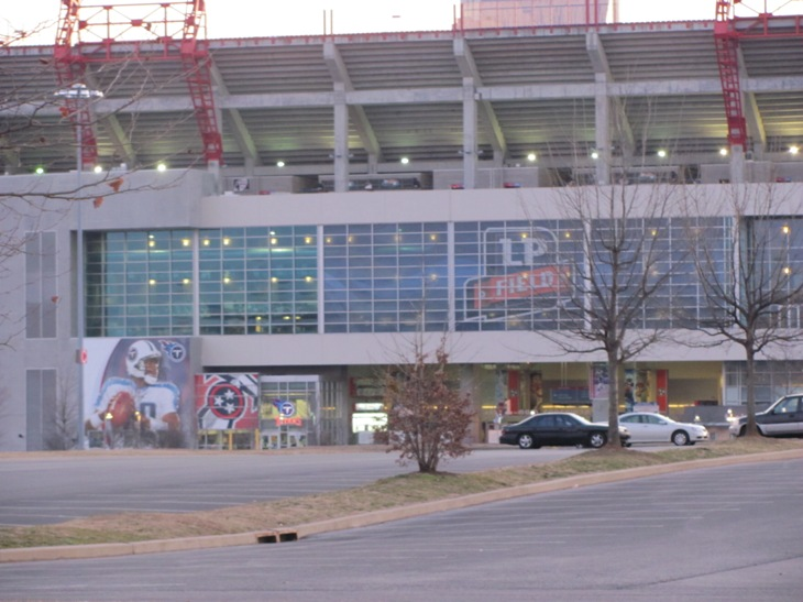 Titans Stadium in front of the Hotel