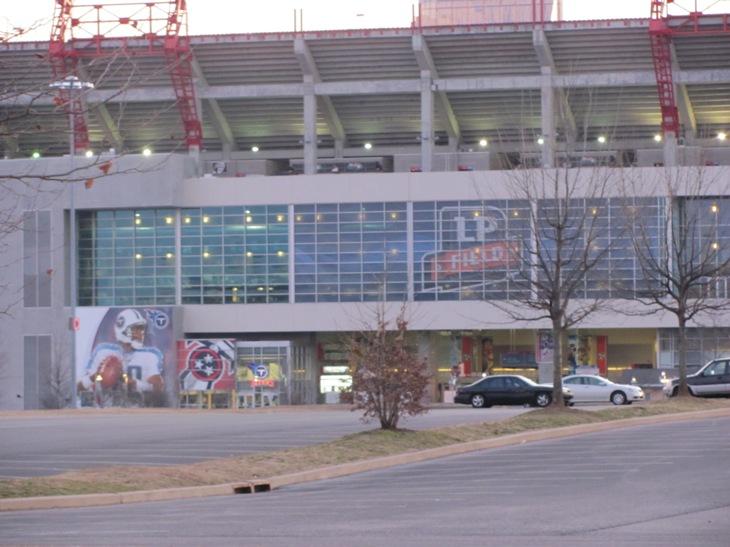 Titans Stadium in front of the Hotel