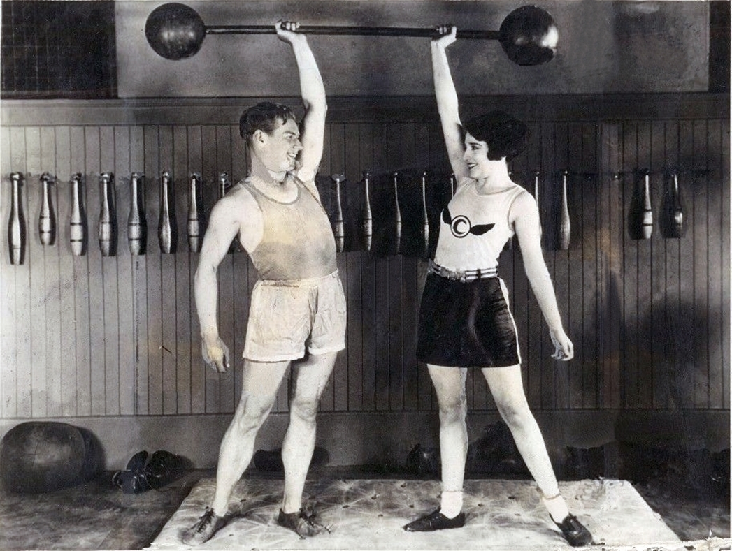 Charley and Bebe working out!