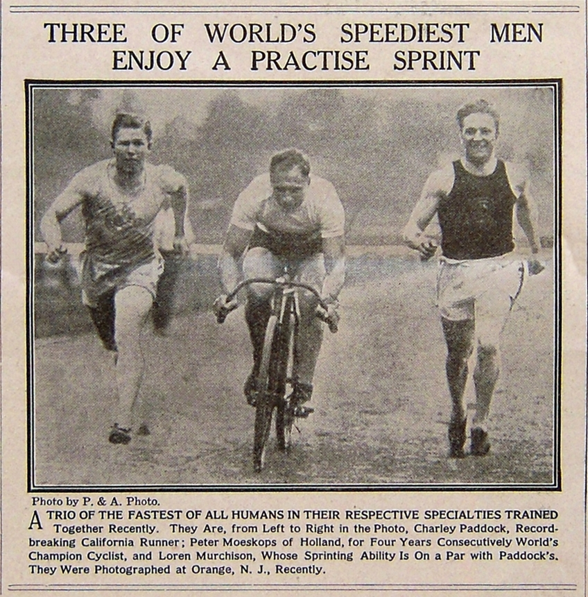 Charles, Peter and Loren racing