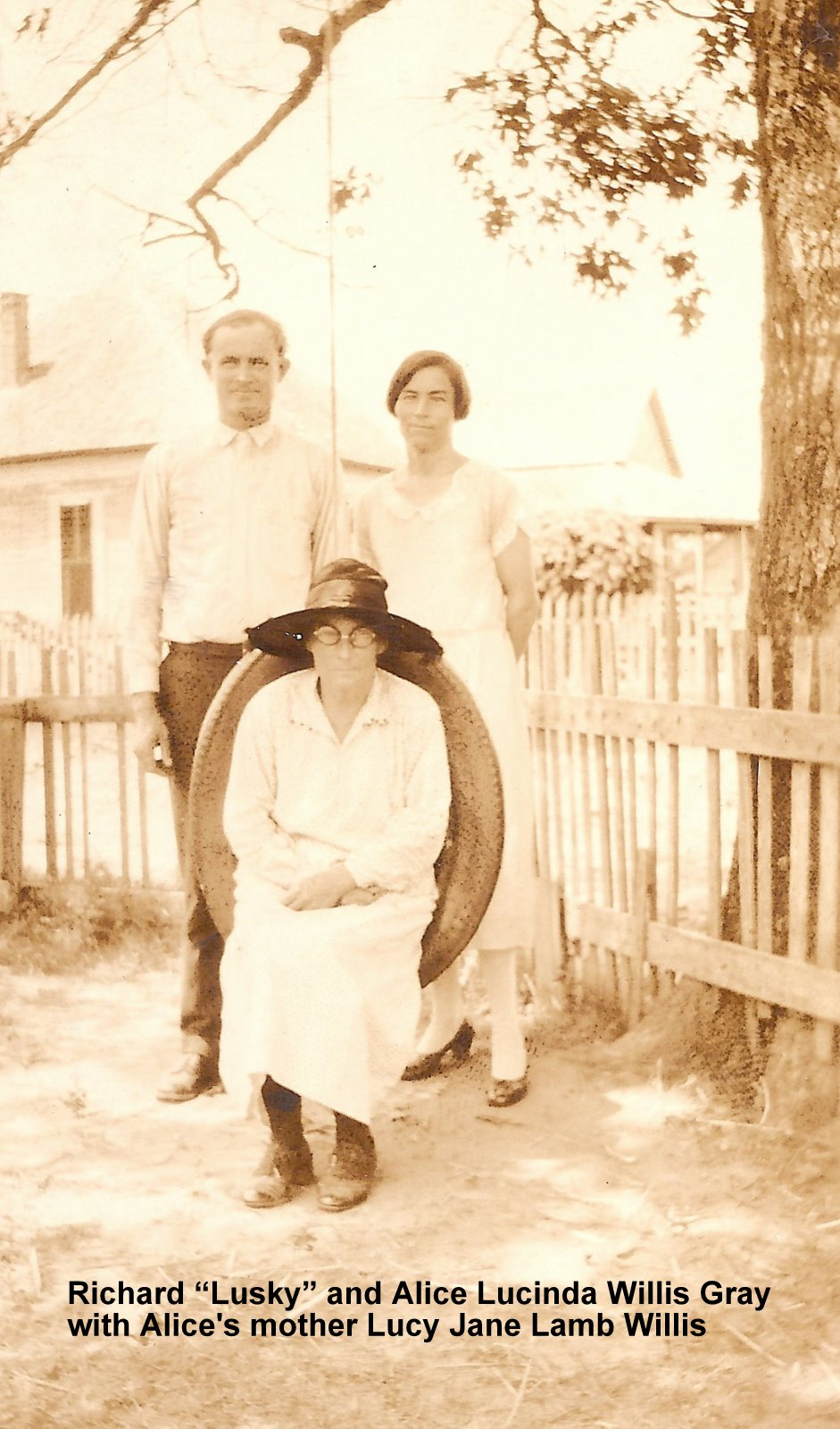 Great Grandmother Lucy Jane Lamb Willis with Richard Lusky Gray & Alice Lucinda Willis Gray