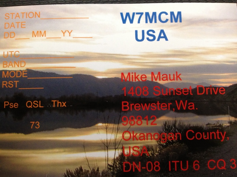W7MCM's QSL card