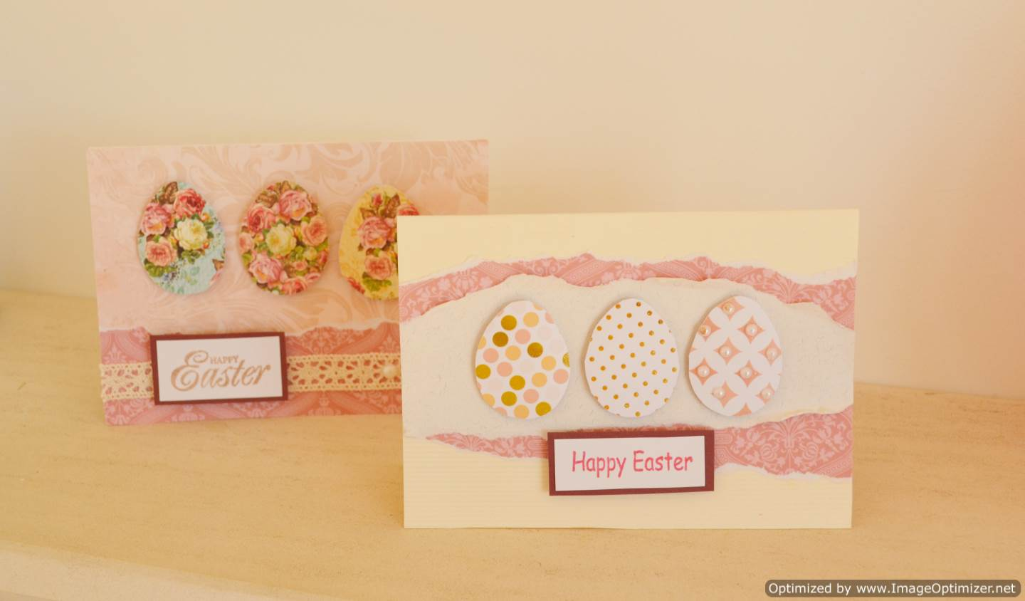 Three Simple Eggs Cards Torn Designs