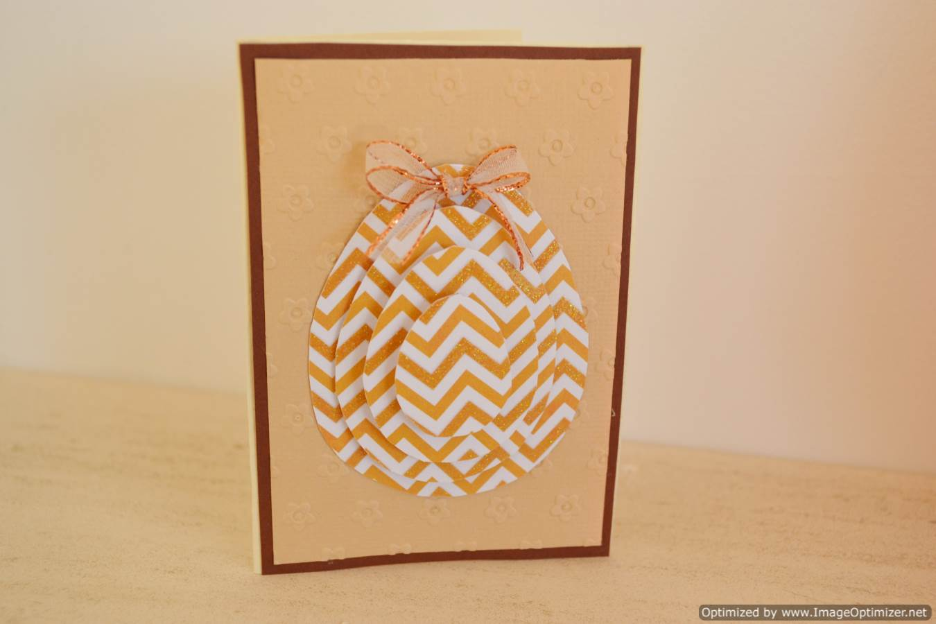Zig Zag Stacked Egg Card