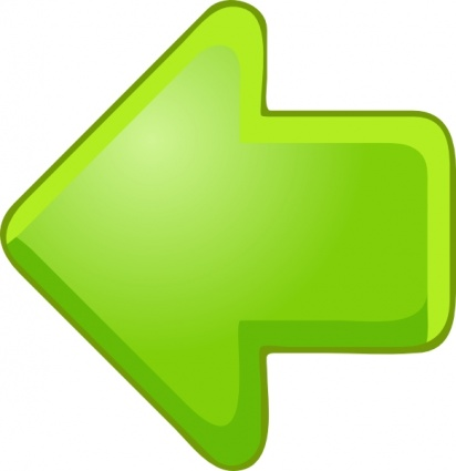 big green arrow pointing left