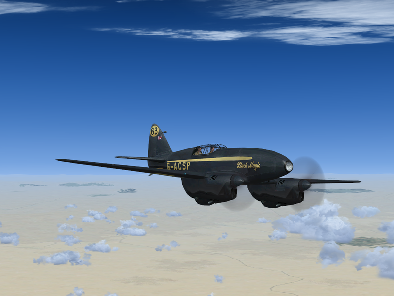 Black Comet Dh.88 Comet 'black Magic'