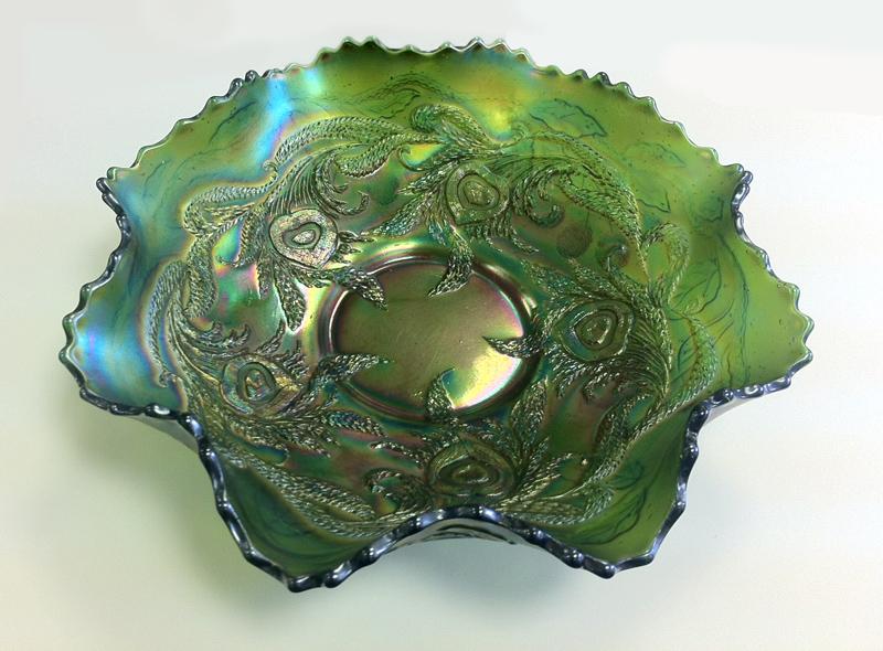 Heart and Vine Variant, Fenton, green