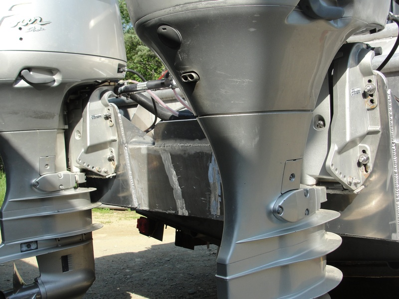 Twin outboard brackets