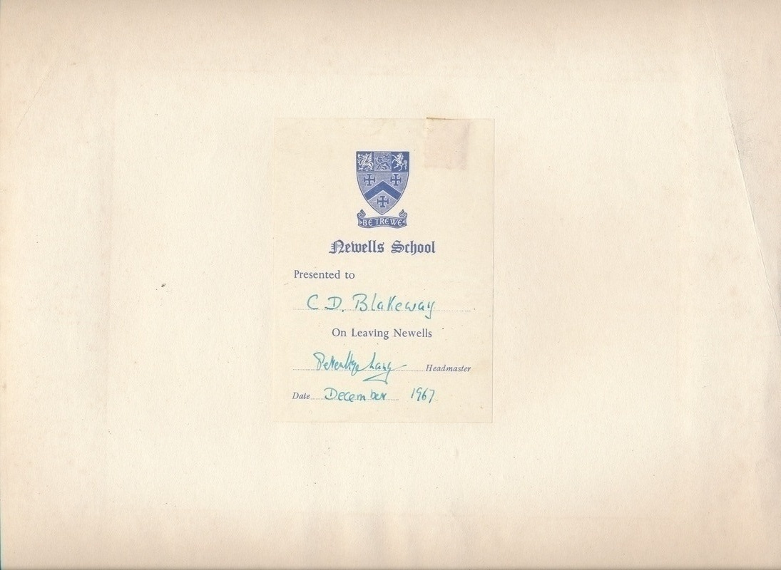 Presentation note to Newells School Aerial Photo - 1967
