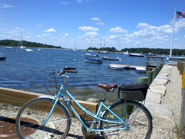 Biking in Woods Hole