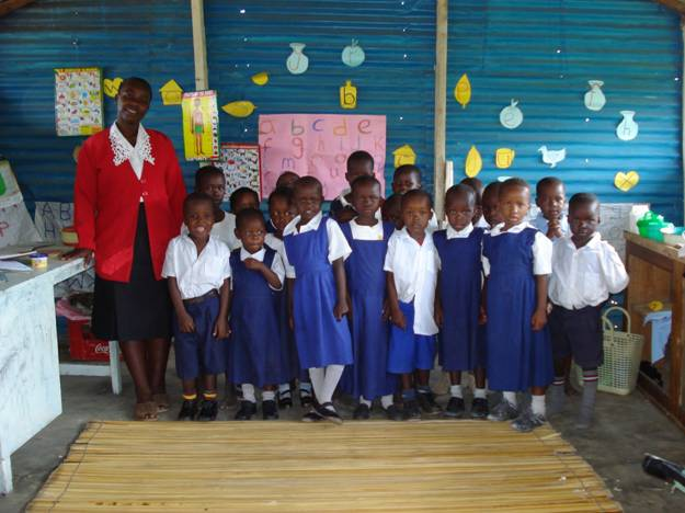 Year 2 children at classroom
