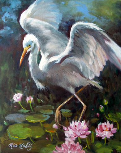 """Heron and Lillies"""