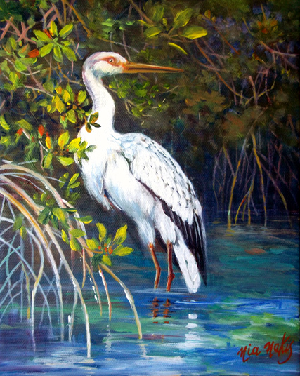 """Portrait of an Egret"""