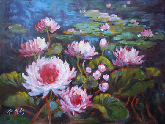 """ Pink Water Lilies"""