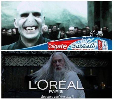 Colgate , L'oreal Voldemort, Dumbledore