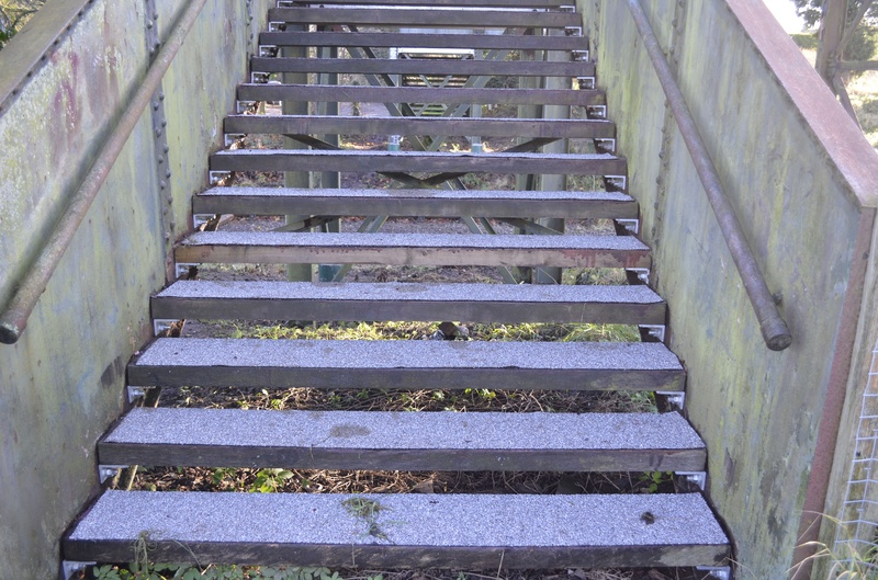 Field side steps showing the new anti-slip material