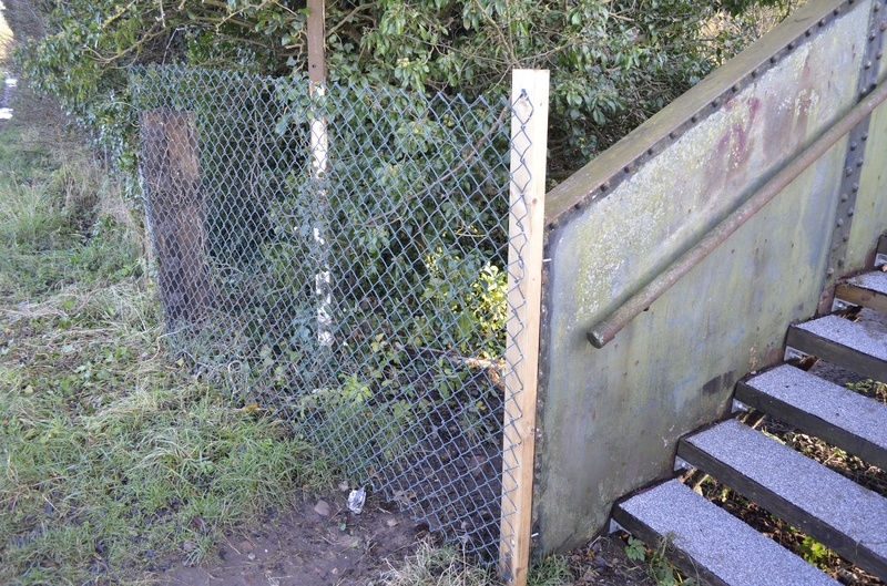 Secure fencing has been installed