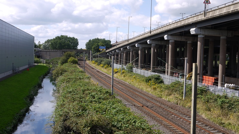 View from SSR line bridge towards Willenhall