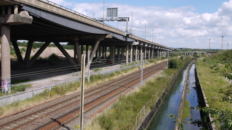 View from SSR bridge towards Bescot
